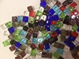 100 pieces 4mm Clipped Cube Style Crystal Glass Beads Mixed Colour