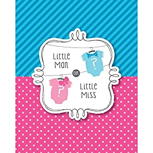 Bow or Bowtie? Invitation (8) Invites Little Man or Miss Gender Reveal Shower