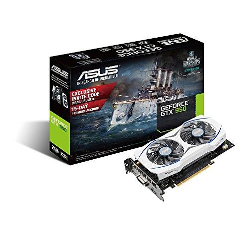 ASUSTek社製NVIDIA GeForce GTX950搭載ビデオカード 補助電源なし GTX950-2G