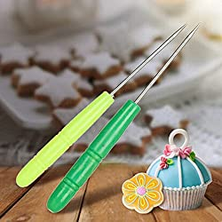LussoLiv 5Pcs Stainless Steel Biscuit Icing Sugar Needle Icing Sugar Needle Baking Pastry Tools