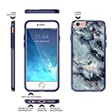 """iPhone 6 Plus, 6s Plus 5.5"""" Case, True Color® Grayish Blue Marble [Stone Texture Collection] Slim Hybrid Hard Back + Soft TPU Bumper Protective Durable [True Protect Series] iPhone 6 / 6s PLUS 5.5"""""""