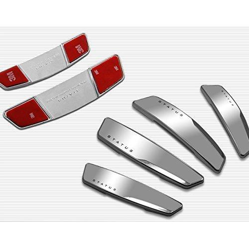 AUTOCARWINNER Status Silver High Glossy Slim Door Edge Guards Set of 4-(Made in KOREA) –