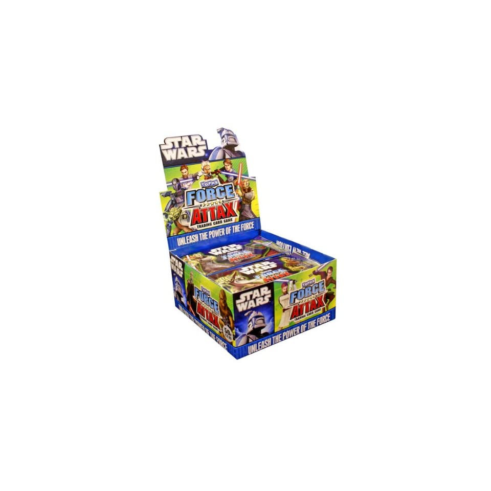 Star Wars Clone Wars Topps Force Attax Trading Card Game Booster Box 50 Packs