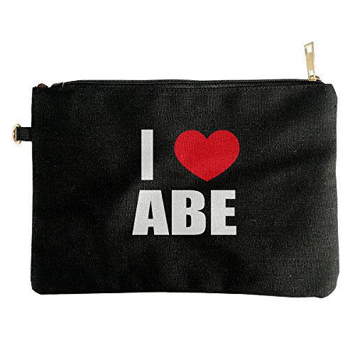 new-i-love-abe-i-love-abraham-heart-ladies-makeup-bag-canvas-inner-pack