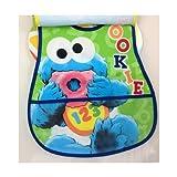 Sesame Baby Bib 2pack with Crumb Catcher