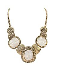 Crunchy Fashion Vintage White Stone Necklace