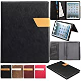 KEVENZ® Ultra Thin Magnetic leather Cover & Back Case For iPad 2 / iPad 3 / iPad 4 - Black - K405