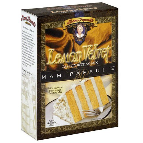 Mam Papaul's Lemon Velvet Cake Mix W Frosting 26.7 Oz