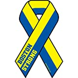 Boston Strong Ribbon Car Magnet