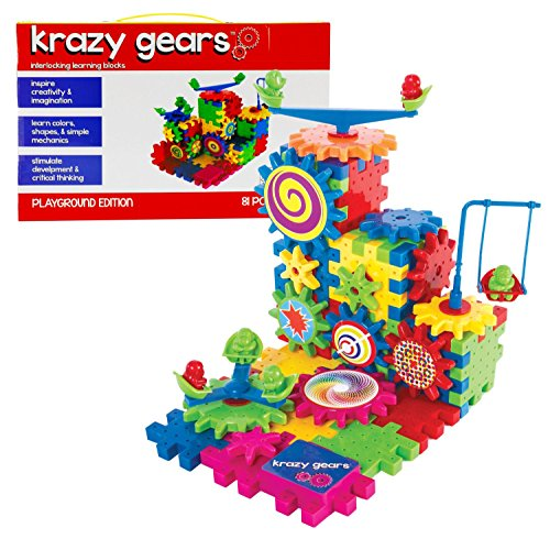 Gear-Building-Toy-Set-Interlocking-Learning-Blocks-Motorized-Spinning-Gears-81-Piece-Playground-Edition-by-Krazy-Gears