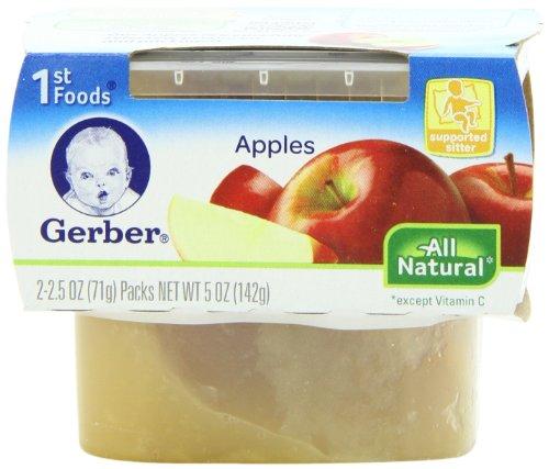 Gerber 1St Foods Fruits - Apples - 2.5 Oz - 2 Ct - 8 Pk front-60687