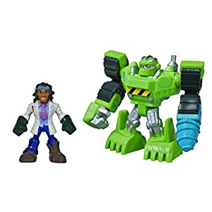 Playskool Heroes Transformers Rescue Bots Energize Boulder the Construction-Bot and Doc Green Figure Pack