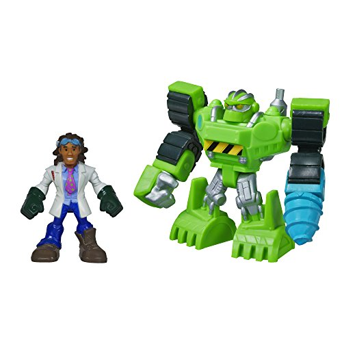 Playskool Heroes Transformers Rescue Bots Boulder the Construction-Bot and Doc Greene Figure Pack - 1