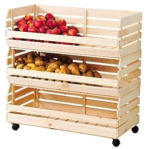 Kesper Ensemble De 3 Paniers Fruits Et Pommes De Terre