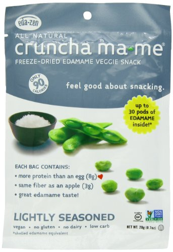 Cruncha ma-me Edamame Veggie Snack, Lightly Seasoned, 0.7 Ounce Pouches (Pack of 8) (Organic Freeze Dried Eggs compare prices)