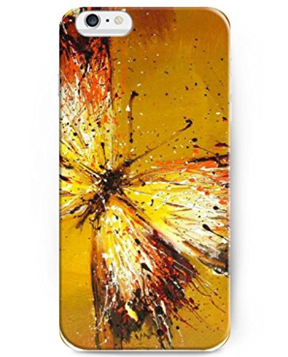 Ukase Hot Selling Fashion Butterfly Ink Painting Back Case Cover For Apple Iphone 6 Plus 5.5Inch