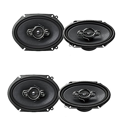 """Pioneer TS-A6886R 700W 5"""" x 7"""" / 6"""" x 8"""" 4-Way A-Series Coaxial Car Speakers , Set of 2 ( 2 pairs)"""