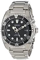 Seiko Men's SKA371 Kinetic Dive Silver-Tone Watch by Seiko