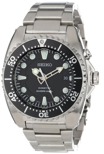 Seiko SKA371P1 Stainless Steel Kinetic Dive Watch