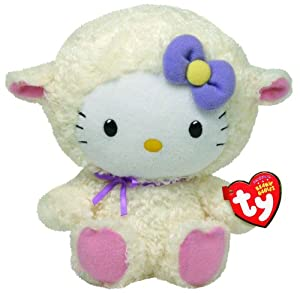 Ty Beanie Hello Kitty - Muñeca vestida de cordero por Soft Toys - BebeHogar.com