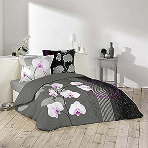Douceur d'Intérieur 1640985 Purity - Juego de cama (3 piezas, estampado, 220 x 240 cm, algodón)