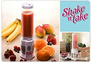 SHAKE 'n TAKE - Blender, Smoothie & Protein Shake Maker with Extra Sport bottle by PowerMag