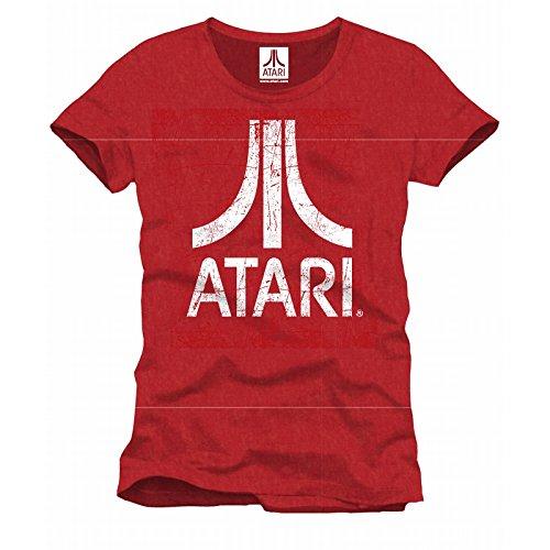 Atari Logo T-Shirt rosso screziato L