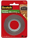 4 Pack Of Scotch Exterior Mounting Tape, 1-Inch by 60-Inch by 3M
