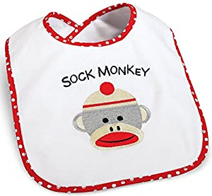 Party Destination Sock Monkey Bib