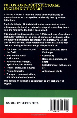 Oxford Duden Pictorial English Dictionary Second Édition