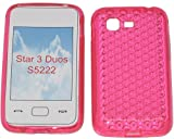 SDK- Smart Diamond Pattern Super Gel TPU Case Cover For Your Samsung Star 3 Duos GT S5222 S5220 In Bubblegum Pink..Other Amazing Colours Available!