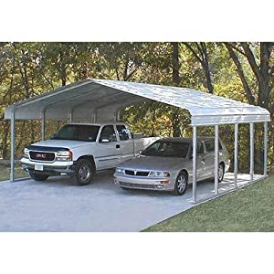 12.5' H x 30' W Carport with 3 Trusses Color: Blue, Length: 20'