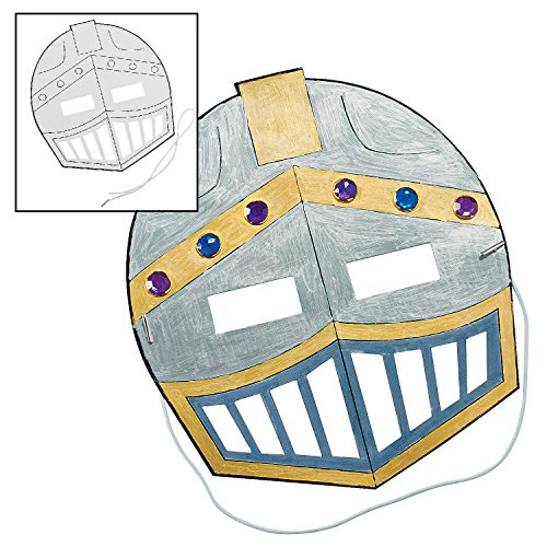Color Your Own Knight's Mask (12 Pack) Craft Kit - 1
