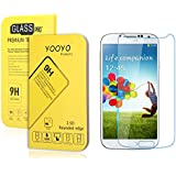 Galaxy S4 Screen Protector, YooyoTM 0.33mm Tempered Glass Crystal Clear | Slim | Anti Finger Print | Scratch Proof and Light weight Screen Protector for Samsung Galaxy S4, I9500, Verizon I545, T-Mobile M919, AT&T I337, Sprint L720 (Galaxy S4 (0.33mm))