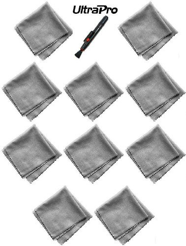 (10 Pack, Bonus Cleaning Pen) Ultrapro Microfiber Cleaning Cloths - For Tablets, Lenses, Smartphones And Other Delicate Surfaces. Great For Iphone, Ipad, Android, Blackberry, And More!