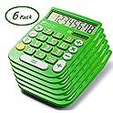 6-Pack Avalon 8 Digit Dual Powered Desktop Calculator