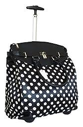 Trendy Flyer Computer/Laptop Rolling Bag 2 Wheel Case M Polka Dots