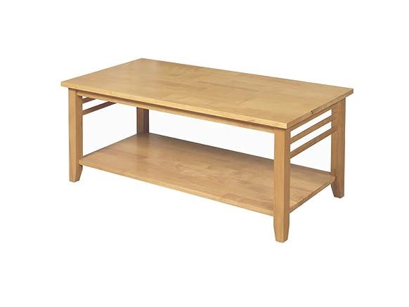 Hawaii solido tavolino in legno massiccio con finitura shelf-: quercia chiaro–salotto