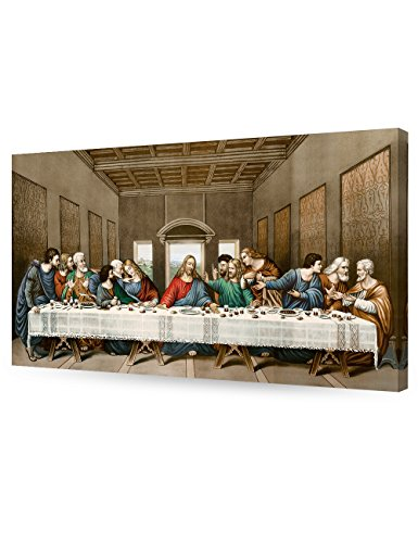 Framed The Last Supper Jesus Religious Canvas Art Prints