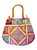 Banjara Mirrors Boho Purse Sequin Embroidered Womens Sari Handbag