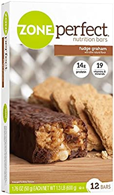 Zone Perfect Nutrition Bars - Fudge Graham - 12 ct