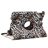 Generic (Leopard Brown) 360 Degree Rotating Stand Smart Cover Leather Case with Retina Display for iPad Mini, Mini2 Other Colors Available