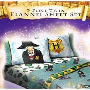 Harry Potter Twin Flannel Sheet Set + Bonus Backpack!