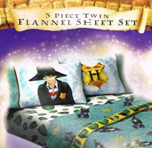 Harry Potter Twin Flannel Sheet Set + Bonus Backpack!