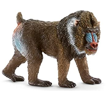 Schleich Male Mandrill Toy Figure by Schleich (English Manual)