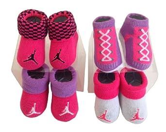 Amazon Michael Jordan Baby 0 6 Months 4 Pair Booties