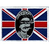 Sex Pistols - God Save The Queen Flag - Embroidered Sew or Iron on Patch