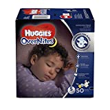 HUGGIES OverNites Diapers, Size 5, 50 ct., BIG PACK Overnight Diapers (Packaging May Vary)