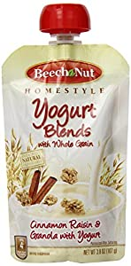 Beech-Nut Yogurt Blends with Grain, Apple,  Raisin Granola, 3.8 Ounce (Pack of 16)