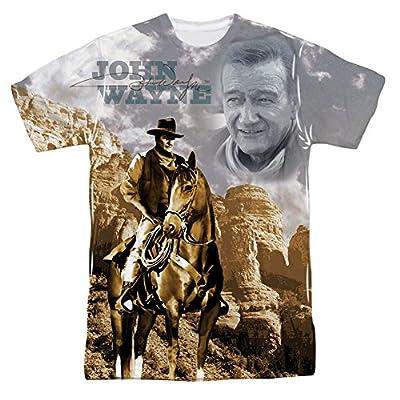John Wayne Ride Em Cowboy All Over Print Front T-Shirt